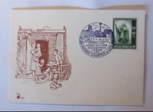 Österreich Linz 1953 Ausstellung Neues Wohnen Bundes-Weinfest ♥ (41277)