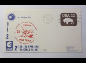 Raumfahrt, Weltraum, Spacelab esa NASA USA 1985 ♥ (72455)