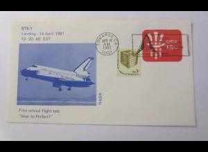Raumfahrt, Weltraum, STS-1 First orbital flight test NASA USA 1981 ♥ (21767)