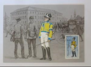 Maximumkarten Historische Postuniformen Sächsischer Postillion 1986 ♥ (11775)