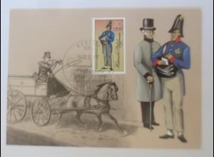 Maximumkarten Historische Postuniformen Sächsischer Postillion 1985 ♥ (35375)