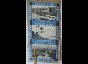 Schiffe Orient Line England-Australien 3 Marken auf Briefstück (8521)