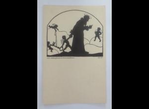 Scherenschnitt, Vom Himmelschlüssel, 1930, Elisabeth Kellermann ♥ (25691)