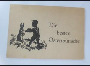 Scherenschnitt, Osterhase, Kinder, 1945 ♥ (57439)