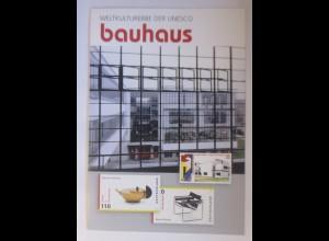 Sonderblatt Weltkulturerbe der Unseco Bauhaus 2004 ♥
