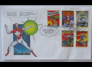 Comic Superhelden u.a. Superman, Captain Canuck usw. Brief 2002 (5433)