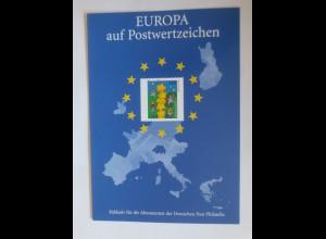 Sonderblatt Europa auf Postwertzeichen 2000 ♥ (ABC)
