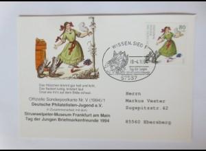 Sonderpostkarte Für die Jugend Struwwelpeter 1994 ♥ (21304)