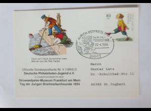 Sonderpostkarte Für die Jugend Struwwelpeter 1994 ♥ (59639)