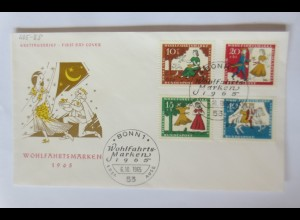 Sonderbrief FDC Wohlfahrtsmarken Aschenputtel 1965 ♥ (35720)