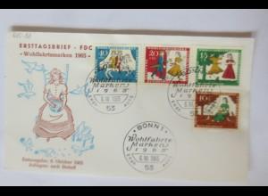 Sonderbrief FDC Wohlfahrtsmarken Aschenputtel 1965 ♥ (7603)
