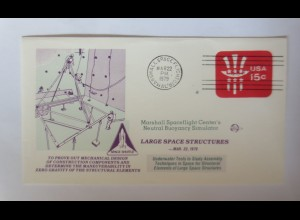 Weltraum USA NASA Space Shuttle Large Space Structures 1979 ♥ (9085)