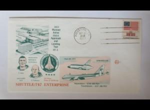 Weltraum USA NASA Space Shuttle Enterprise Astronauten 1977 ♥ (70503)