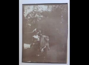 Sachsen Dresden Wohlhabende Familie Kinder mit Hund, Foto ca.1900 ♥ (18452)