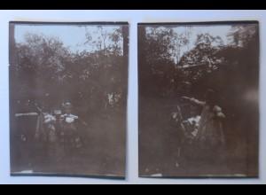 Sachsen Dresden Wohlhabende Familie Kinder Reifen treiben , Foto ca.1900♥(49846)