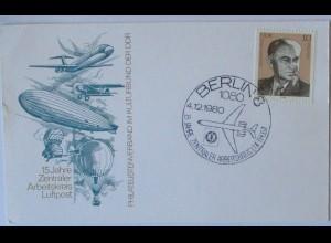 Luftfahrt Zeppelin Ballon Jet usw. DDR Berlin 1980 (65072)