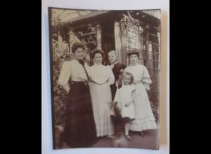 Sachsen Dresden Wohlhabende Familie Foto ca.1900 ♥ (6759)