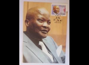 Maximumkarten Transkei Premierminister G.M. Matanzima 1986 ♥ (8226)