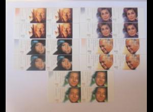 Deutschland Mi Nr. 2143/47 Schauspieler Viererblock xx ♥ (5591)
