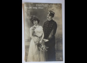 Künstlerkarte, Frauen, Männer, Mode, Die lustige Witwe, 1908 ♥ (24234)