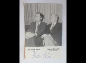 Autogramm Dr. Dieter Spörti und Hemut Schmidt ♥ (9198)