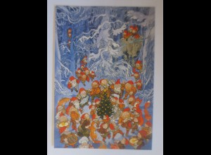 Norwegen, Weihnachten im Wald, Zwerge, Wichtel, 1998 ♥ (73208)