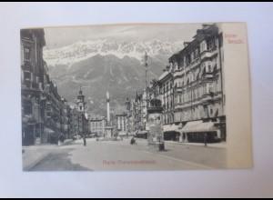 Österreich Innsbruck Maria-Theresienstrasse, Lifaßsäule, Reklame, 1903 ♥ (12971)