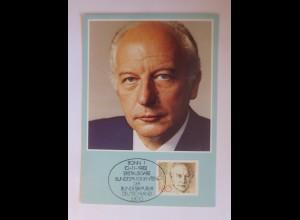 Maximumkarte Walter Scheel 1982 ♥ (72598)