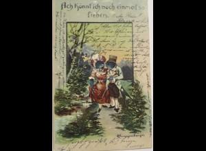 """""""Vogel,Schwalben, Liebe"""" 1903 ♥ (8993)"""