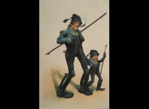 Humorkarte, Männer, Kinder, 1917, Prägekarte ♥ (11782)