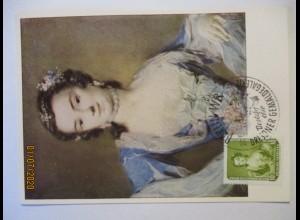 R. Carriera, Tänzerin Barbarina Campani, Maximumkarte DDR 1957 (57860)
