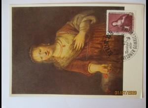 Rembrandt, Saskia mit der roten Blume, Maximumkarte DDR 1957 (51214)