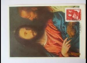 Tizian, Jesus, Der Zinsgroschen, Maximumkarte DDR 1957 (5110)