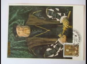 Hans Holbein d.J., Bildnis der Morette, Maximumkarte DDR 1957 (63136)