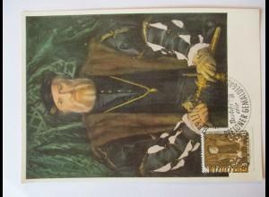 Hans Holbein d.J., Bildnis der Morette, Maximumkarte DDR 1957 (60062)