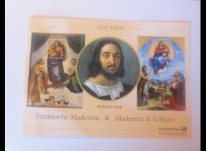 Sonderblatt Raffaello Santi Sixtinische Madonna & Madonna di Foligno 2012 ♥