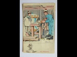 """""""Beruf, Holz, Matrose, Zimmermann, Schiffbauer"""" 1910 ♥"""