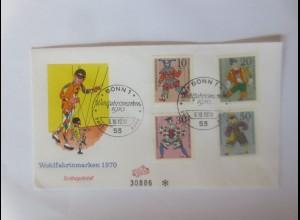 FDC Harlekin Marionetten Wohlfahrtsmarken 1970 ♥ (49329)