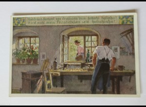 """""""Beruf, Holz, Schreiner"""" 1910, Paul Hey ♥"""