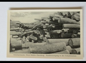 """Berufe, Holz, Sägewerk, Schlobachwerke, Böhlitz-Ehrenberg"" 1910 ♥"