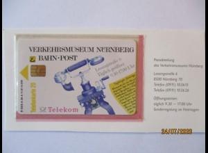 Deutschland Telefonkarte Verkehrsmuseum Nürnberg von 1991 ungebraucht (25260)