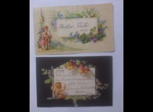 Einlegekärtchen aus dem Jahr 1879 mit Engel Motiv ♥ (62308)
