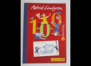 Sonderblatt Astrid Lindgren 2007 ♥