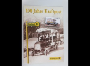 Sonderblatt 100 Jahre Kraftpost 2008 ♥