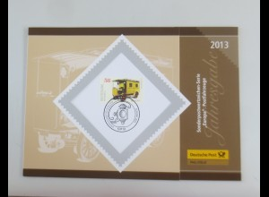 Sonderblatt Europa Postfahrzeuge 2013 ♥