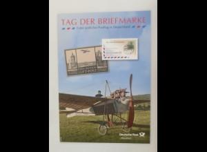 Sonderblatt Tag der Briefmarke Erster amtliche Postflug in Deutschland 2012 ♥