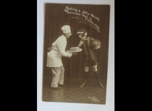 Zirkus, Stelling & Jolly Rievell Komischer Reck & Elastik-Akt, 1908 ♥ (9165)