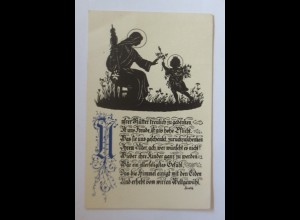 Scherenschnitt, Muttertag, 1915 ♥ (1126)