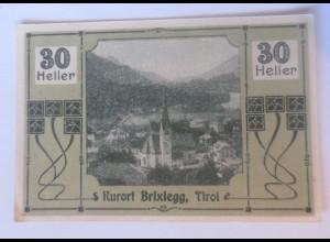 Notgeld, 30 Heller Kuort Brixlegg in Tirol 1920 ♥ (66236)