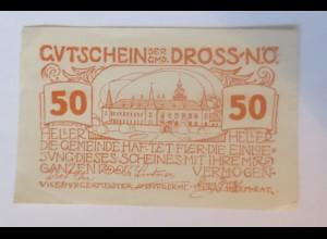Notgeld, 50 Heller Österreich Gemeinde Droß 1920 ♥ (56518)